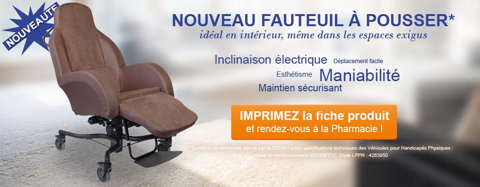 NOUVEAUTE : fauteuil à pousser ALLURE DRIVE