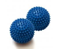 Balle massage à picots - 10 cm de diamètre - Bleue - par Paire