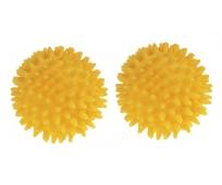 Balle massage à picots - 8 cm de diamètre - Jaune - par Paire