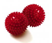 Balle massage à picots - 9 cm de diamètre - Rouge - par Paire