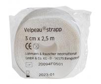 Bande Adhésive et Elastique - 2,5M x 3CM - Blanc - VELPEAU