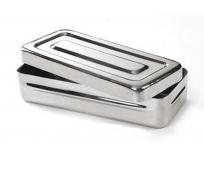 Boîte de stérilisation inox - 18 x 8 x 4 cm - COMED