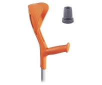 Canne Anglaise - Adulte - Avec Embout Pivot - Fun Orange - HERDEGEN
