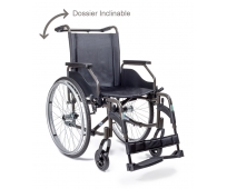 Fauteuil Roulant Manuel - Dossier Inclinable - Novo Light - Brun - DRIVE