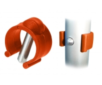 Clip - pour canne 22mm - Orange - HERDEGEN
