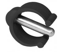 Clip gris anthracite pour régler la hauteur d'une canne anglaise avec tube de 22mm - HERDEGEN