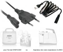 Cordon d'alimentation pour tire-lait électrique Symphony ou aspirateur Clario - MEDELA