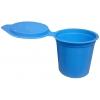 Crachoirs jetables bleus avec couvercle - 130ml - Lot de 10 - VELPEAU L&R