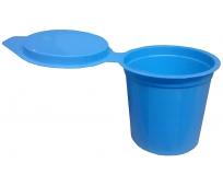 Crachoirs jetables bleus avec couvercle x10 - KELIS MEDICAL