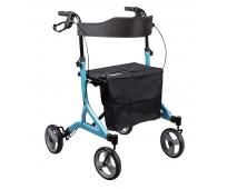 Rollator 4 Roues - Pliant - UltraLight - Bleu ciel - DRIVE