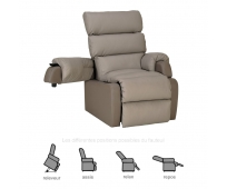 Fauteuil Releveur - 1 moteur - Cocoon Taupe - INNOV'SA