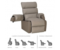 Fauteuil Releveur - 2 moteurs - Cocoon Taupe - INNOV'SA