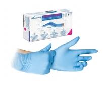 Gants Nitrile Non Poudrés - Nitryl Derm 3.5 Bleu - Bte de 100 - NACATUR