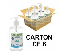 Gel hydroalcoolique - Flacon Pompe 500ml - Carton de 6 - SANITIZER