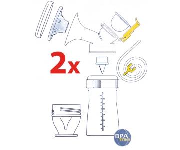 Kit tire-lait Premium Double set - MAMIVAC
