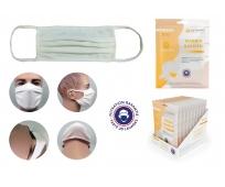 Masque Barrière - Blanc - Enfant Grand Modèle - Pochette de 6 - JSE MEDICAL