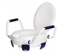 Rehausse WC Avec Pattes de Maintien, Abattant et Accoudoirs - Clipper V - HERDEGEN