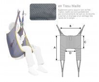Sangle Lève-personne - Universelle Standard - Tissu - Maille - INVACARE