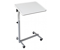 Table de Lit - Hauteur Réglable - Plateau Inclinable - Gris Perle - EASY - HERDEGEN