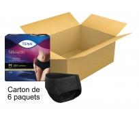 TENA Silhouette - Taille basse - Normal noir - Large - x9 - Carton de 6 paquets