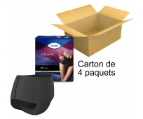 TENA Silhouette - Taille haute - Plus noir - Taille Large x8 - Carton de 4 paquets