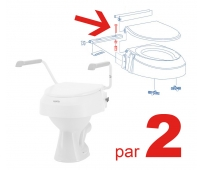 Kit vis serrage - Rehausse WC AT900 - par 2 - INVACARE